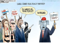 Truth.: Email, branco@reagan com  LibertyAlliance.com  @2017  DOES CRWD BIZE REALLY MATTERP  SO WHERES AL  PEOPLE?  STOP  WORKING  TRUMP  SUPPORT  TRUMP Truth.