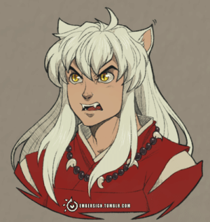 Target, Tumblr, and Blog: EMBERSIGN.TUMBLR.COM embersign:♥A doodle of Inuyasha, because like a few others, I noticed, I was also inspired by the series when I was younger. I honestly should have done this sooner, but hey. XD Testing a brush out as well ;v;♥Kofi♥