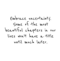 Memes, 🤖, and Uncertainty: Embrace uncertainty  Some of the most  beautiful chapters in our  lives Wow  have a trtle  until much later
