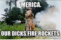 Memes, 🤖, and Rockets: EMERICA.  OUR DICKSHFIRE ROCKETS