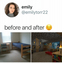 Hgtv, Relatable, and Amazing: emily  @emilytorr22  before and after amazing what a little HGTV can teach you (: