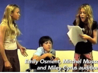 THIS MAKES ME SO EMOTIONAL 10YearsOfHannahMontana: Emily Osment, Mitchel Musso  audition  and Miley Syrus THIS MAKES ME SO EMOTIONAL 10YearsOfHannahMontana