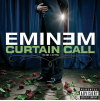 """Billboard, Eminem, and Memes: EMINEM  CURTAIN CALL  THE HITS  PARENTAL  ADVISORY  EXPLICIT CONTENT Congratulations goes out to Eminem for his 2005 """"Curtain Call: The Hits"""" LP, which became the longest charting HipHop album in Billboard history after spending 350 weeks on the chart! What's your favorite song off this album? Comment below! 👇🔥💯 @Eminem WSHH"""