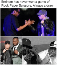 🤣😂🤣😂: Eminem has never won a game of  Rock Paper Scissors. Always a draw  THP  PH  FERR 🤣😂🤣😂