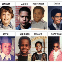 Which rapper as a kid is y'all favorite ?: EMINEM  J.C  ole  Kanye West  Drake  JAY Z  Big Sean  50 cent  A$AP Rock  SEAN Which rapper as a kid is y'all favorite ?