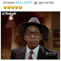 Eminem, Family, and Funny: Eminem #KILLSHOT Ct got me like  aRodnla  family  bo God damn 😵😵😵😵😵😵😵😵😵😵💯🔥🤫🚀🛩✈️ what's your favorite line he killed him with ?