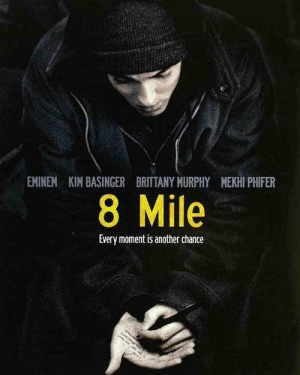 8 Mile, Eminem, and Today: EMINEM KIM BASINGER BRITTANY MURPHY MEKHI PHIFER  8 Mile  Every moment is another chance 15 Years ago today  8 mile was released in theaters