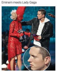 @ladbible is a must follow for memes that are actually funny!: Eminem meets Lady Gaga  SN @ladbible is a must follow for memes that are actually funny!