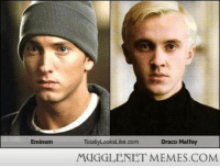 """<p>Draco Malfoy totally looks like&hellip; <a href=""""http://ift.tt/1E98yLw"""">http://ift.tt/1E98yLw</a></p>: Eminem  TotallyLooksLike.com  Draco Malfoy  MUGGLENET MEMES.COM <p>Draco Malfoy totally looks like&hellip; <a href=""""http://ift.tt/1E98yLw"""">http://ift.tt/1E98yLw</a></p>"""