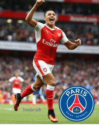 Paris St-Germain are leading the chase to sign Arsenal forward Alexis Sanchez, 28, with the Chilean set to leave following a row with his Gunners team-mates and manager Arsene Wenger.: Emirafe  PAR  ARs  Transfer talk  AINT GERMA Paris St-Germain are leading the chase to sign Arsenal forward Alexis Sanchez, 28, with the Chilean set to leave following a row with his Gunners team-mates and manager Arsene Wenger.