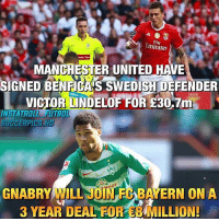 Memes, Manchester United, and Emirates: Emirates  Tandem Tau  MANCHESTER UNITED HAVE  SIGNED BENECASSWEDISIDEFENDER  VICTO  ND  INSTATROL  GERPI  ILL JUNED ON A  3 YEAR DEAL FOREE MILLION! Thoughts👇🏽 Follow @iamtrollfutbol