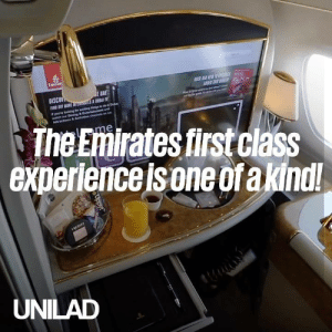 This guy reviewed the Emirates A380 first class suite and it looks seriously unreal! The only way to travel! 😱✈️  Dantorp Aviation: Emirati  E SEW D  E BA  DISCOV  FN T MORE sS T  youe okng tr eng gdon Dub  watch our Dnng&Enteramtnd  Aracns& Actvehan  The Emirates first class  experience is one ofa kindl!  lme  UNILAD  Uppy This guy reviewed the Emirates A380 first class suite and it looks seriously unreal! The only way to travel! 😱✈️  Dantorp Aviation