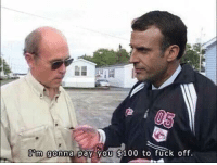 Minimum Wage, Emmanuel, and Macron: Emmanuel Macron increasing minimum wage (2018, colorized)