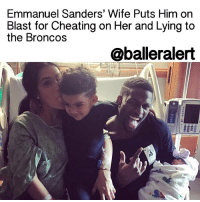 "Cheating, Ex's, and Marriage: Emmanuel Sanders' Wife Puts Him on  Blast for Cheating on Her and Lying to  the Broncos  oballeralert Emmanuel Sanders' Wife Puts Him on Blast for Cheating on Her and Lying to the Broncos – blogged by @LoveRubyWoo ⠀⠀⠀⠀⠀⠀⠀⠀⠀ ⠀⠀⠀⠀⠀⠀⠀⠀⠀ Gabriella Sanders, the estranged wife of DenverBroncos wide receiver EmmanuelSanders, is furious with her soon-to-be ex-husband. And according to her side of the story, she has plenty of reason to be. ⠀⠀⠀⠀⠀⠀⠀⠀⠀ ⠀⠀⠀⠀⠀⠀⠀⠀⠀ Gabriella filed for divorce from Sanders back in October, though the reason for their breakup was unclear at the time. Now, according to some court documents obtained by TMZ, it appears the reason behind the Sanders' happy union coming to an end was because Emmanuel was unfaithful to his wife. ⠀⠀⠀⠀⠀⠀⠀⠀⠀ ⠀⠀⠀⠀⠀⠀⠀⠀⠀ ""When he's not playing football on the field, he 'plays the field' with numerous women whom he is or has committed adultery,"" the court documents state. Gabriella goes on to say that Emmanuel cheated on her with multiple women throughout their 3-year marriage and spent thousands of dollars on them, even buying one of his side chicks a car. ⠀⠀⠀⠀⠀⠀⠀⠀⠀ ⠀⠀⠀⠀⠀⠀⠀⠀⠀ But that's not all. Mrs. Sanders also claims that when her husband wasn't busy lying to her, he was lying to his team. Gabriella alleges an incident back in November when Emmanuel told the Broncos that he had to miss practice to go to Houston for the birth of his child. However, she says that that was not the case, and instead Sanders took the time away from practice to go out partying. ⠀⠀⠀⠀⠀⠀⠀⠀⠀ ⠀⠀⠀⠀⠀⠀⠀⠀⠀ For obvious reasons, Gabriella says that there is no chance of reconciliation with her husband. ⠀⠀⠀⠀⠀⠀⠀⠀⠀ ⠀⠀⠀⠀⠀⠀⠀⠀⠀ Their divorce has been an ugly one from the start. When Gabriella first filed for divorce, she also asked the judge for a restraining order against Sanders, which kept him away from her and only gave him limited access to their two kids. Based on the latest court documents, it looks like the battle has just begun for these two."