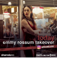 emmy rossum takeover  ODSHAMELESS  NEW SEASON  SHOWTIME.  SUNDAYS ONLY ON  shameless Head to the Shameless Insta RIGHT NOW to follow Emmy Rossum's takeover from set, ahead of her directorial debut this on Sunday's new ep: instagram.com/shameless