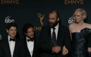 Husband and wife take their 2 boys to the Emmys.: EMMYS  EMMYS  abc  ab  EM Husband and wife take their 2 boys to the Emmys.