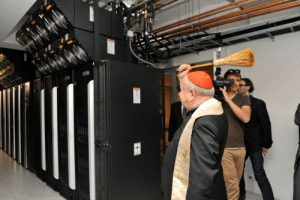 Tumblr, Asparagus, and Blog: emospritelet: faster-than-asparagus-is-cooked:  polishpriests:  Polish cardinal blessing a supercomputer cluster. 2013.  Reblog to protect yourself and your computer from porn bots  Man, do I need this!