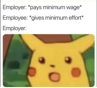 Alive, Meme, and Minimum Wage: Employer: *pays minimum wage*  Employee: *gives minimum effort*  Employer: This meme still alive?