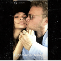 Emily Ratajkowski, Friends, and Marriage: emrata 6m  got married to Emily Ratajkowski just pulled a fast one, getting hitched in an NYC courthouse to her boyfriend of just a few weeks - with only a couple friends there to see it. emilyratajkowski marriage tmz surprise