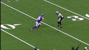 Football, Memes, and Time: en Every time he steps on a football field.  @AThielen19 can't stop making ridiculous grabs. #MINvsNO https://t.co/h9AsCejFwJ