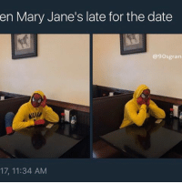 Memes, Date, and Pain: en Mary Jane's late for the date  @9Osgran  17, 11:34 AM I understand the pain