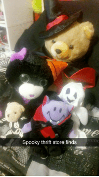 Halloween, Love, and Tumblr: en  Spooky thrift store finds shiftythrifting:  Found in Huntsville, Alabama.  I love finding Halloween themed things durring September and October!