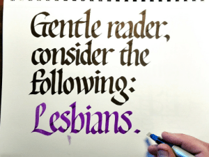 lord-kitschener: salparadisewasright:   salparadisewasright:  salparadisewasright: got a new set of colored inks and so it turns out when you swap ink colors the new one starts coming through one side of the nib first  let us take a moment to appreciate that this post got me this:   Tunglr.hell strikes again : encle rudci  consider the  followino:  Pesbians lord-kitschener: salparadisewasright:   salparadisewasright:  salparadisewasright: got a new set of colored inks and so it turns out when you swap ink colors the new one starts coming through one side of the nib first  let us take a moment to appreciate that this post got me this:   Tunglr.hell strikes again