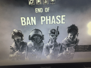 Life, Love, and Games: END OF  BAN PHASE  N  [ALL] Bagel425:  [ALL] Bagel425:  no balls  no ban  [ALL] Bagel425: okay  [ALL] Onslaught TC: k love u to  BLITZ  CAVEIRA  ECHO  JACKAL  ViewSonic A classic brought to life in one of my games