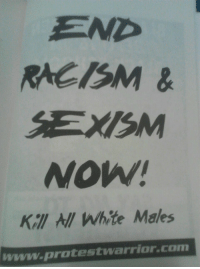 """Ass, Bad, and Bailey Jay: END  RACISM&  SEXISM  NOW!  Kal NIl White Males  www.protestwarrior.com <p><a href=""""http://moreprivilegedthanyou.tumblr.com/post/109230217305/social-darwin-awards-audieoddity"""" class=""""tumblr_blog"""">moreprivilegedthanyou</a>:</p>  <blockquote><p><a class=""""tumblr_blog"""" href=""""http://social-darwin-awards.tumblr.com/post/66405837651/audieoddity-north-american-ass-melon"""">social-darwin-awards</a>:</p> <blockquote> <p><a class=""""tumblr_blog"""" href=""""http://audieoddity.tumblr.com/post/66372931248/north-american-ass-melon-audieoddity"""">audieoddity</a>:</p> <blockquote> <p><a class=""""tumblr_blog"""" href=""""http://north-american-ass-melon.tumblr.com/post/66366674480/audieoddity-north-american-ass-melon"""">north-american-ass-melon</a>:</p> <blockquote> <p><a class=""""tumblr_blog"""" href=""""http://audieoddity.tumblr.com/post/66346435337/north-american-ass-melon-audieoddity-i-was"""">audieoddity</a>:</p> <blockquote> <p><a class=""""tumblr_blog"""" href=""""http://north-american-ass-melon.tumblr.com/post/66343786905/audieoddity-i-was-reading-political-satire-and"""">north-american-ass-melon</a>:</p> <blockquote> <p><a class=""""tumblr_blog"""" href=""""http://audieoddity.tumblr.com/post/66343545832/i-was-reading-political-satire-and-basically"""">audieoddity</a>:</p> <blockquote> <p>I was reading political satire and<br/> Basically tumblr</p> </blockquote> <p>If they all died there would be less problems in the world for sure</p> </blockquote> <p><span>Nothing could solve world problems like the killing of about 525 million people, with families and loved ones, worldwide.</span></p> <p><span>Thinking the eradication of an entire group of people would make your life better must make you a wonderful person.</span></p> </blockquote> <p>They've been responsible for all the genocides, societal inequalities, etc. the world would benefit.</p> </blockquote> <p>Would you like to source that information?</p> <p>Because really,<strong>all the world's genocides?</strong></p> <p>So you're going to forget the Bosn"""