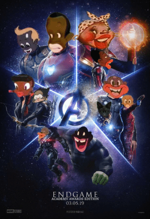 Endgame Academy Awards Edition 030519 Marvel Studios Poster By Midiy