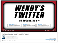 "<p>WENDY&rsquo;S TWITTER ACCOUNT MEMES HAVE REACHED NORMIE OVERLOAD! SELL! SELL! SELL! via /r/MemeEconomy <a href=""http://ift.tt/2jlu48L"">http://ift.tt/2jlu48L</a></p>: ENDY  WITTER  AS SUGGESTED BY:  Trill Queen 3 days ago  Youtubers react to Wendy's roasting  on twitter  Reagan Huslig 1 day ago  Do the Wendy's roasting people with  comebacks on Twitter!!  Abby Aquilina 1 week ago  PLEASE PLEASE PLEASE REACT TO  WENDY'S ROASTS ON TWITTER  - ) 0:09 / 8:59  YouTubers React to Wendy's ROASTS Twitter!!  Fine Brothers Entertainment  BE  Subscribed  14,745,173  8,857 views  1,002タ119  Add to  Share  More <p>WENDY&rsquo;S TWITTER ACCOUNT MEMES HAVE REACHED NORMIE OVERLOAD! SELL! SELL! SELL! via /r/MemeEconomy <a href=""http://ift.tt/2jlu48L"">http://ift.tt/2jlu48L</a></p>"