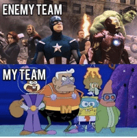 Memes, 🤖, and Enemy: ENEMY TEAM  MY TEAM  DO  oo Pretty accurate.