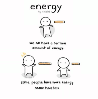 [Multiple images post- swipe!] A comic about energy. We all have a certain amount of energy and different amounts to spend on ourselves and others. It fluctuates and changes throughout our lives. Nothing scientific, but it's a different perspective I've been thinking of. ^^ cute energy comic introvert extrovert friends relationship life chibird art doodle tired self reflection: energy  by chibird  We all have a certain  amount of energy  BARD  some people have more energy  Some have less. [Multiple images post- swipe!] A comic about energy. We all have a certain amount of energy and different amounts to spend on ourselves and others. It fluctuates and changes throughout our lives. Nothing scientific, but it's a different perspective I've been thinking of. ^^ cute energy comic introvert extrovert friends relationship life chibird art doodle tired self reflection