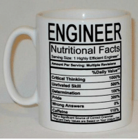 """Nutritional Facts . . . nutritionalfacts nutritional facts engineering engineer engineers criticalthinking determination coffee caffeine pride engineeringrepublic engineering_memes engineeringmemes science physics math calculus thermo mechanical civilengineering: ENGINEER  Nutritional Facts  Size: 1 Highly Efficient Engineer  Amount Per serving: Multiple Rovtsloma  %Daily Value  1000%  Critical Thinking  500%  Unrivaled Skill  100%  Determination  300%  Pride  0%  Wrong Answers  110%  Caffeine  """"Naa  cant source UniveD  Diet  Values are Based on Your Nutritional Facts . . . nutritionalfacts nutritional facts engineering engineer engineers criticalthinking determination coffee caffeine pride engineeringrepublic engineering_memes engineeringmemes science physics math calculus thermo mechanical civilengineering"""