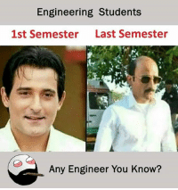 Engineering Students  1st Semester  Last Semester  Any Engineer You Know? Twitter: BLB247 Snapchat : BELIKEBRO.COM belikebro sarcasm meme Follow @be.like.bro
