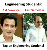 Memes, Engineering, and 🤖: Engineering Students:  1st Semester  Last Semester  Tag an Engineering Student! Join @sadcasm.co for more!