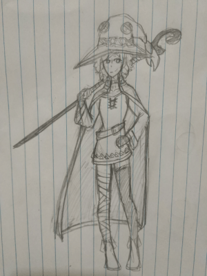Enjoy my OC in a Megumin Outfit: Enjoy my OC in a Megumin Outfit