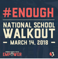 Facebook, Head, and Memes:  #ENOUGH  NATIONAL SCHOOL  WALKOUT  -MARCH 14, 2018-  WOMEN'S MARCH YOUTH  EMPeWER Enough is enough! @WomensMarchYouth EMPOWER is calling for students, teachers, school administrators, parents and allies to take part in a NationalSchoolWalkout for 17 minutes at 10am on March 14, 2018. JGo to the link in our bio to RSVP to the Facebook event or head to bit.ly-EnoughMarch14. Join us in saying ENOUGH! VIA @WomensMarchYouth