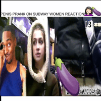 Funny, Memes, and Prank: ENS PRANK ON SUBWAY WOMEN REACTION  ENIS PRANK ON SUBWAY WOMEN REACTION  13  06 There is a camera inside this guy pants on the subway ... Ladies y'all are freaks too 🍆❤😂😂🤦🏻‍♀️🤦🏾‍♂️ - -Full video link in my bio - - follow me @kmoorethegoat @kmoorethegoat - kmoorethegoat kyrieirving wshh worldstar funny comedy pranks funnyvideos