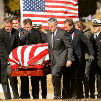 Pallbearers carry the casket of Jon Huntsman Sr. during the graveside service at Wasatch Lawn Memorial Park & Mortuary in Salt Lake City, Utah.: ent Nelson The Salt Lake Tribune via Pallbearers carry the casket of Jon Huntsman Sr. during the graveside service at Wasatch Lawn Memorial Park & Mortuary in Salt Lake City, Utah.