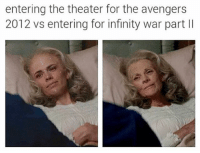 Deadpool, Avengers, and Infiniti: entering the theater for the avengers  2012 vs entering for infinity war part ll ~Deadpool