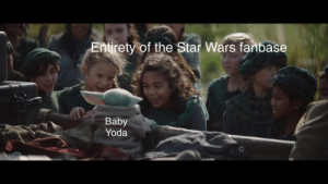 The best boy!: Entirety of the Star Wars fanbase  Baby  Yoda The best boy!