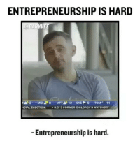 Mondaymotivation Don't focus on the fame, focus on your passion. Have a great week ahead. (Credit :@garyvee): ENTREPRENEURSHIP IS HARD  YVE  3 MID 8 AFT 12  EVER 6  TOM  11  NCIAL ELECTION  B.C.'S FORMER CHILDREN'S WATCHDO  Entrepreneurship is hard Mondaymotivation Don't focus on the fame, focus on your passion. Have a great week ahead. (Credit :@garyvee)