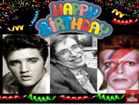 A day like today born Elvis Presley, Steven Hawking and David Bowie.: \.eO  A  6 A day like today born Elvis Presley, Steven Hawking and David Bowie.