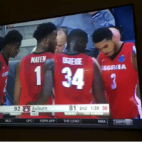 #OtherESPYAwards  Team huddle of the Year: Georgia Bulldogs https://t.co/vcmR4vyDZ6: EORIA  92 A Auburn  92 Auburn  81 2nd 1:39 30  MS UFC ESPN APP THE LEAD NBAIT m  UFC ESPN APPTHE LEAD #OtherESPYAwards  Team huddle of the Year: Georgia Bulldogs https://t.co/vcmR4vyDZ6