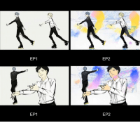 Animals, Anime, and Ass: EP1  EP1  EP2  EP2 Anime: Yuri on Ice  Okay, but did you notice how the opening changed in the second episode??? I totally missed that! Here's the video comparison and wow, I'm IMPRESSED: https://vt.tumblr.com/tumblr_oeyiiwv9em1rg90xj_480.mp4#_=_ (credit to cruccabastarda on Tumblr).  I'm not sure if this is just the difference between the first and second episodes, but if the OP will gain more color with every episode then God that will be absolutely amazing.  Oh, and you know who's watching this anime this season? Evgenia Medvedeva, the reigning world champion in ladies' figure skating. Basically the real life female version of Victor Nikiforov is watching this anime and she loves it (and posts about it on twitter!). I think no one would have predicted how big this show would get.  Now, as for my opinion on episode 2: It was a step down from the quality of the first episode, but the show is still really good, knows what it's doing and where it's heading. Yuri on Ice has does its exposition extremely well and I always find myself thinking that the episodes are too short and I really need MORE. Especially that the two Yuris are about to go against each other in what will probably be the most graceful battle in anime history.  And speaking of the two Yuris - Russian Yuri is so cute? Like, I just wanna hug that little punk because come on, he's so obsessed with cats and he's still trying to be badass despite being a short 15-year-old, like how sweet is that? He's like a little kitten who thinks that he's a lion. So precious.  And one more thing - I loved how the anime made Victor into a bit of a douche. Like, he's beautiful and incredibly skilled, but let's face it - he's sort of a self-centered ass. But that's amazing because it shows that he's not perfect and both Yuuri and the audience get to experience this gap in expectations by how he acts in ep 2. He's not the impeccable untouchable prince when he's not on ice and I love that.  I'm really enjoying the anime so far and I crave more already. How about you guys?  Admin Urushihara --- Fall 2016 Voting Link: https://goo.gl/VVPEil