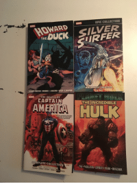 brubaker: EPIC COLLECTION  THE DUCK SILVER  SURFER  MARVE  WHENICALLS GALACTUS  DEE KIRBY  GERBER MAYERIK. BRUNNER. J. BUSCEMA COLAN-S. BUSCEMA  MARVEL  THE DEATH OF  CAPTAIN  THE INCREDIBLE  AMERICA H ULK  01 ON ROLLING STONES  TOP TEN OF THE BEST  IN  POP CULTURE  COMPLETE COLLECTION  ED BRUBAKER  PAK PAGULAYAN LOPRESTI FRANK MIYAZAWA