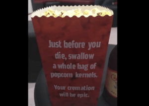Epic cremation.: Epic cremation.