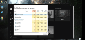 Chrome, Google, and Windows: EPIC  GAN-  Ajay Gautam Epic Games  Launcher  X  Task Manager  File Options View  EPIC  Processes Performance App history Startup Users Details Services  Ep  Thimbleweed Park  This PC  GAMES  100%  34%  11%  6%  Status  CPU  Memory  Disk  Network  Name  Ho  Apps (3)  AIHBLEWEED  Network  THUI  EpicGamesLauncher (2)  0 Mbps  80.8%  240.6 MB  0.1 MB/s  S  Task Manager  0 MB/s  O Mbps  0.8%  18.7 MB  Windows Explorer  0.3%  40.2 MB  0.1 MB/s  O Mbps  Li  Background processes (37)  Google  Chrome  INSTALL  0 MB/s  0 Mbps  E Application Frame Host  0%  6.1 MB  Fr  E COM Surrogate  0 Mbps  0.3%  1.6 MB  0.1 MB/s  E COM Surrogate  0 MB/s  0 Mbps  0%  1.5 MB  E COM Surrogate  0 Mbps  1.6 MB  O MB/s  0%  COM Surrogate  0 MB/s  0 Mbps  0%  2.7 MB  E COM Surrogate  0 MB/s  0 Mbps  0%  3.5 MB  Cortana (2)  O Mbps  0 MB/s  D  0%  77.8 MB  0 MB/s  0 Mbps  5.1 MB  CTF Loader  0%  Se  Fewer details  End task  INSTALL  INSTALL  RedRay88.YT  X Need help. This launcher takes 90% cpu. This happens only when I open it, but not when it is MINIMISED. It takes 1-2% otherwise (minimised).
