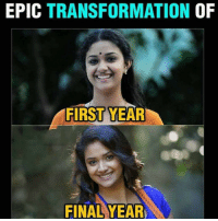 Good, Dekh Bhai, and Puberty: EPIC TRANSFORMATION  OF  FIRST YEAR  FINAL YEAR Those times When Puberty hits good to anyone